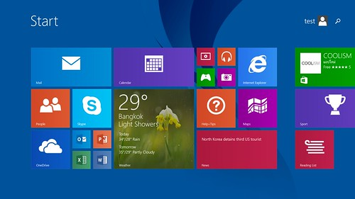 Windows UI ของ Microsoft Surface 2