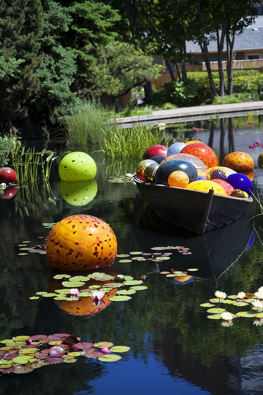 Chihuly Glass Art Exhibit at Denver Botanic Gardens