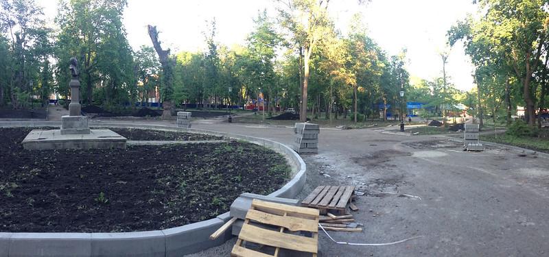 Сквер Лермонтова вовремя ремонта
