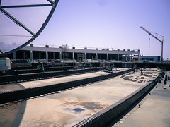 Construction at the mall, Yas Island