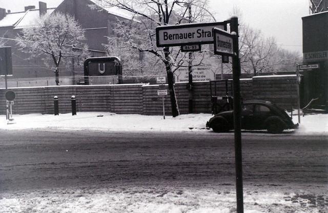 Berlin Wall at Bernauer Strasse, c.27 December 1964