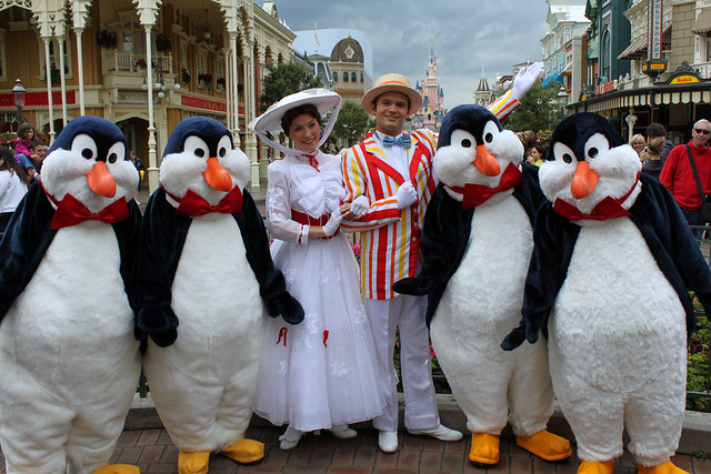Meeting Mary Poppins, Bert and the Penguins