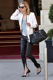 Kate Moss White Blazer Celebrity Style Fashion