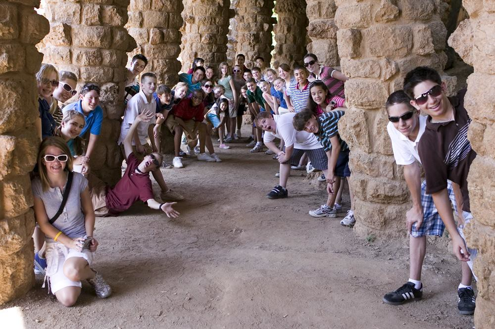 Colorado Children's Chorale at Park Guell in Barcelona, Spain