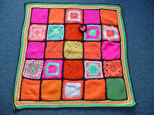Thank you to 'jean nock' who assembled this Blanket. Thanks to everyone who contributed Squares!
