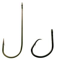 圖左為J型鉤,右為圓形鉤。節錄自中華民國對外漁業合作發展協會網站