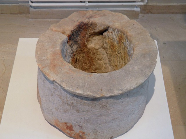 Upper part of a well from the santurary of Isis, Archaeological Museum, Dion