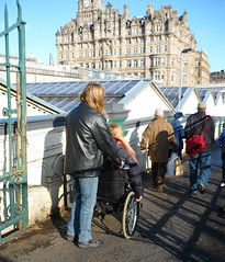 ramp into Waverley Station