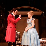 Valmont (Michael T. Weiss) instructs Cecile (Louisa Krause) how to hide her bedroom chamber key in the Huntington Theatre Company's production of