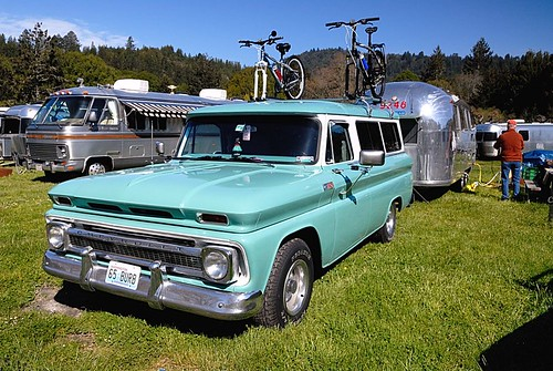 1965 Chevrolet Carryall and 1965 24' Airstream Tradewind
