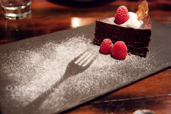 Bedrock Bar & Grill Steakhouse chocolate cake