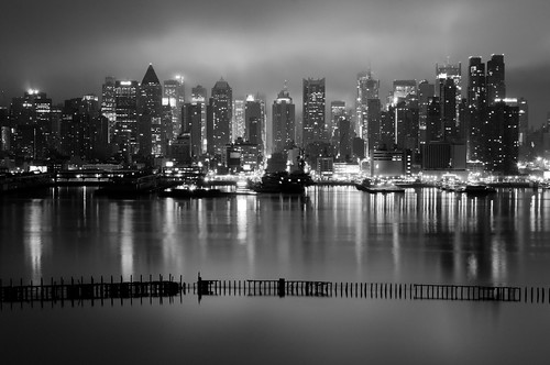 The City That Never Sleeps in B&W