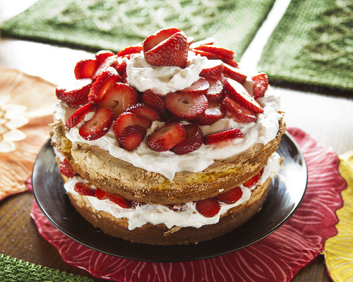 Strawberry Meringue Cake
