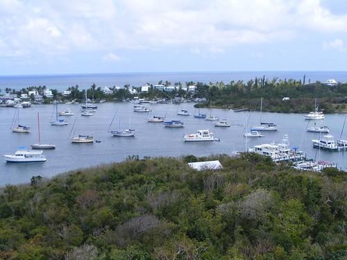Bird's eye harbor view