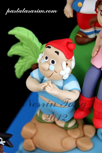 jack & neverland pirates cake - kerem