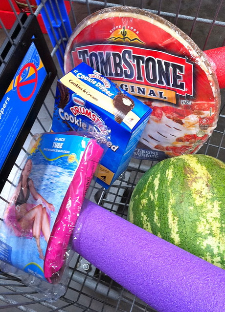 shopping cart contents