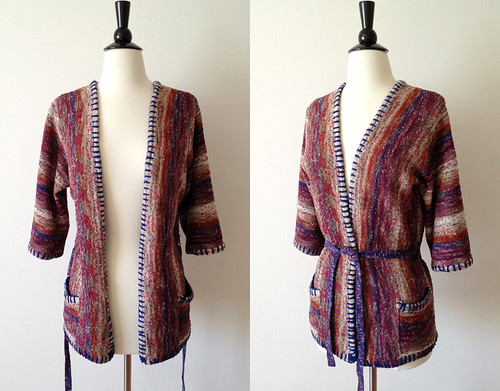 space dyed hippie wrap cardigan
