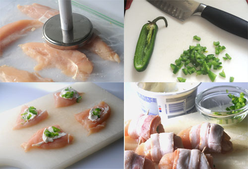 Bacon-Wrapped Jalapeño Chicken Bites --assembly illustrated