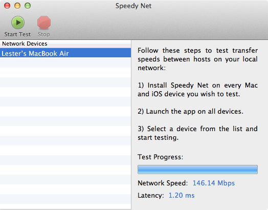 Speedy Net – 1Gbps LAN (iMac) to Wireless N 5GHz (MacBook Air)