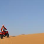 En quad por las dunas del Sahara