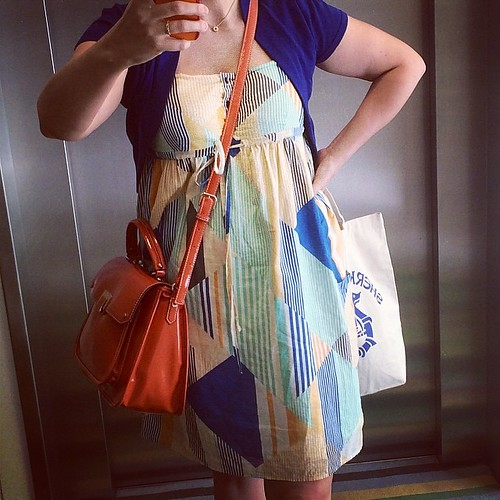 I'm dressed for #summer in my #gap sundress and Laura Ashley cardigan. #outfit