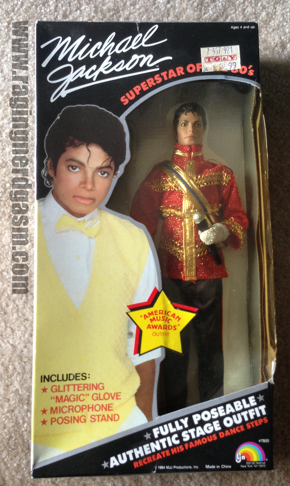 Michel Jackson Superstars of the 1980's by LJN