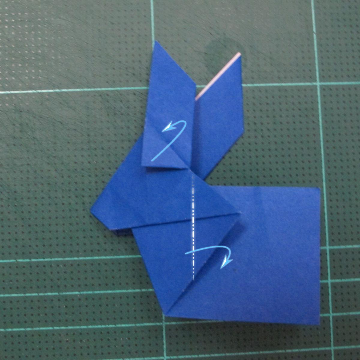 วิธีการพับกระดาษเป็นรูปกระต่าย แบบของเอ็ดวิน คอรี่ (Origami Rabbit)  020