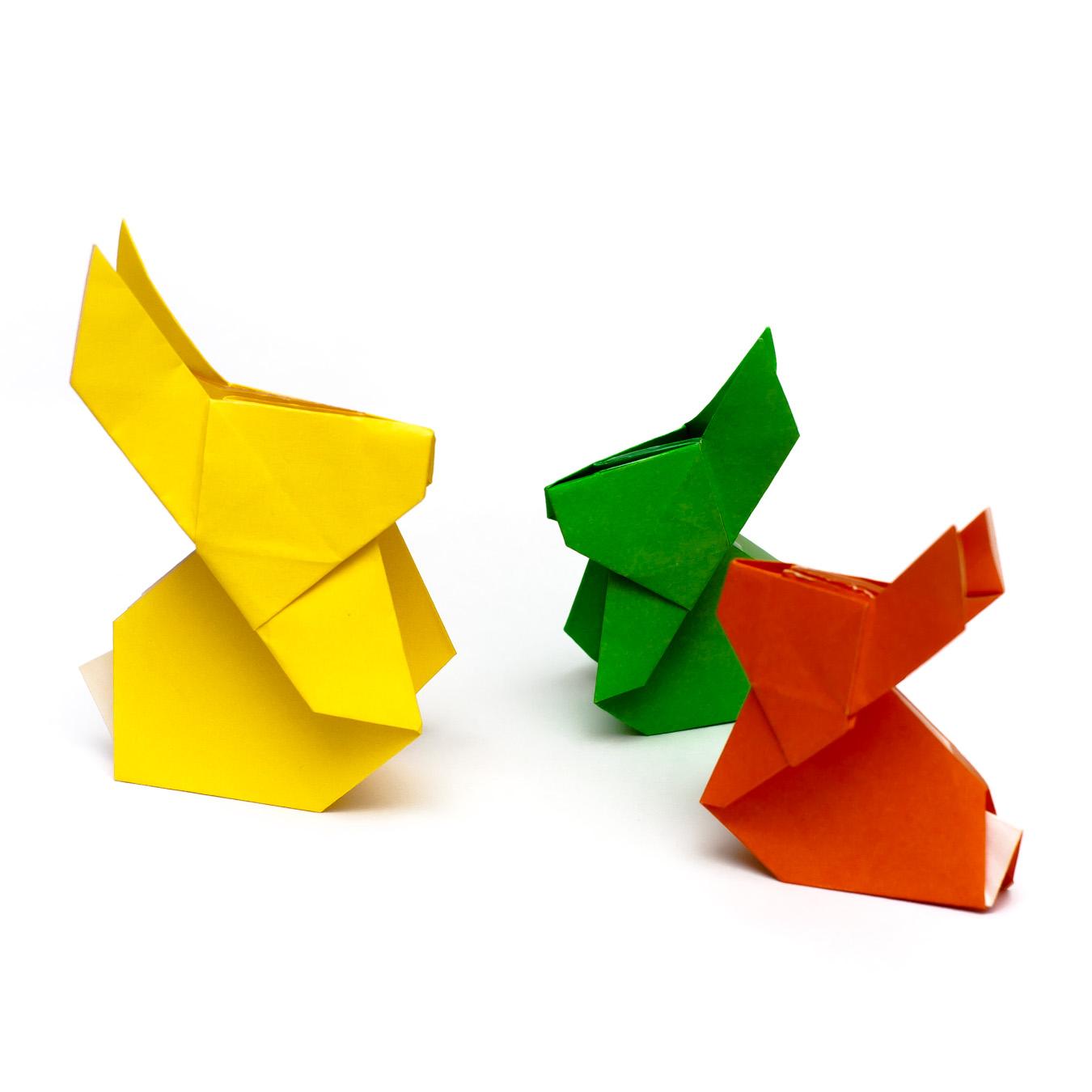 วิธีการพับกระดาษเป็นรูปกระต่าย แบบของเอ็ดวิน คอรี่ (Origami Rabbit)  028