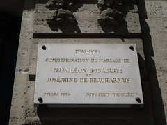 Photo of Napoleon Bonaparte marble plaque