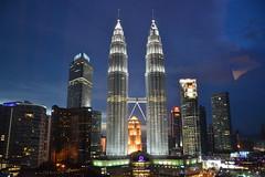 Petronas Twin Towers night