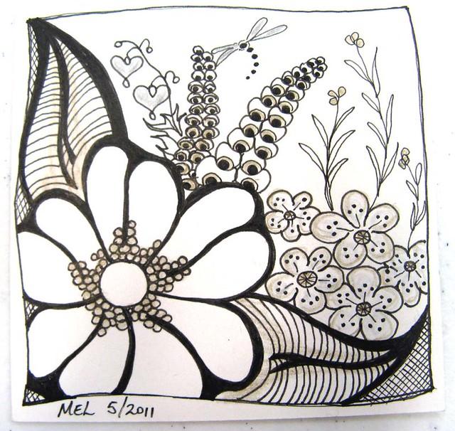 Flower zentangle...Zentangle Birds Designs