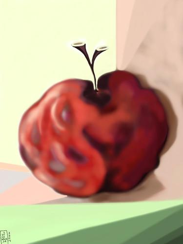 pintura decorativa frutas