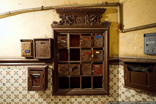 Old mailboxes in Algerian stairwell by varlamov