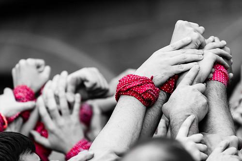Castellers - Solidarité - équipe de Sant Cugat