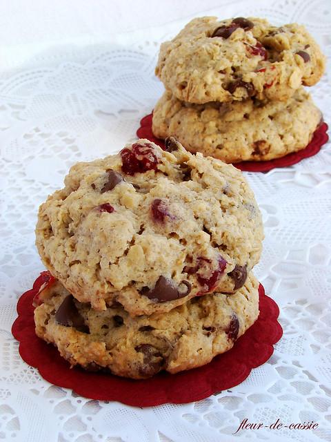 печенье овсяное с вишней  и шоколадом 1