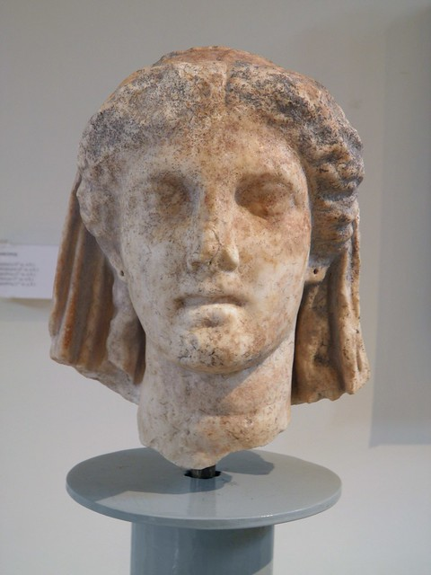 Head of Demeter, from the sanctuary of Demeter, 4th c. BC, Archaeological Museum, Dion