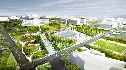 Union square proposal by: Diller, Scofidio + Renfro and Hood Design, via Smithsonian Institution)