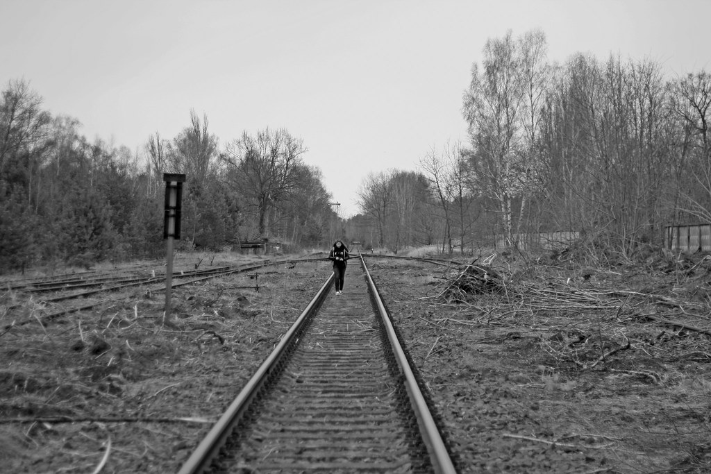 abandoned Jüterbog black and white