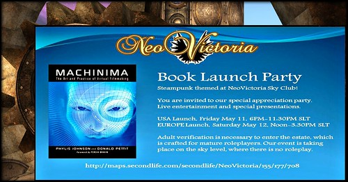Machinima Book Party Invite