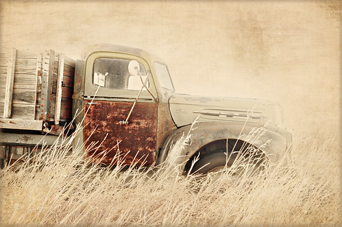 an old ford truck
