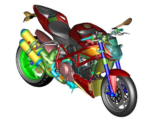 Ducati 848 Streetfighter CAD