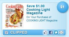 Cooking Light Magazine Coupon