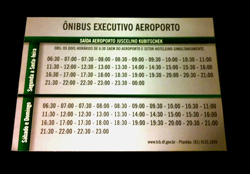 Ônibus executivo - aeroporto Brasilia
