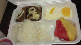 beef tapa egg and fruits breakfast