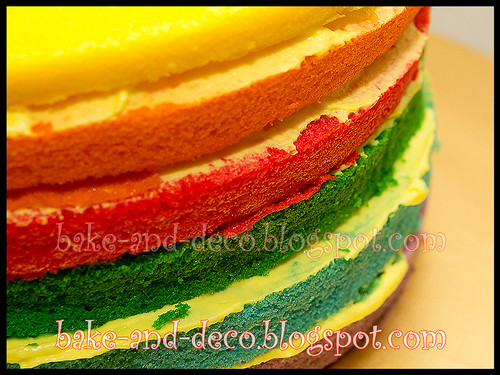 Italian Rainbow Cake + Lapis Cheezy + Blackforest Cream Truffle ~ 18 March 2012