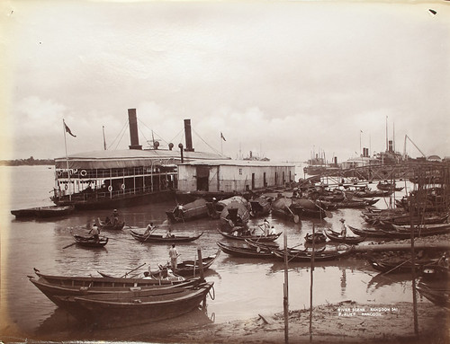 River Scene, Rangoon by The National Archives UK