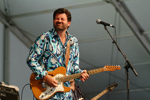 Tab Benoit at Jazz Fest 2007. Photo Leon Morris.