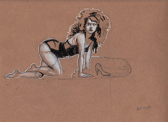 Dr. Sketchy's Baltimore with Nicolette Le Faye 20 min