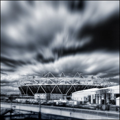 UK - London 2012 - Olympic Park - Stadium sq tilt-shift zoom mono v2