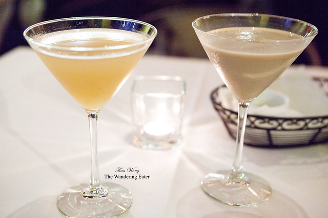 Our White Peach Martini and PB&J cocktails